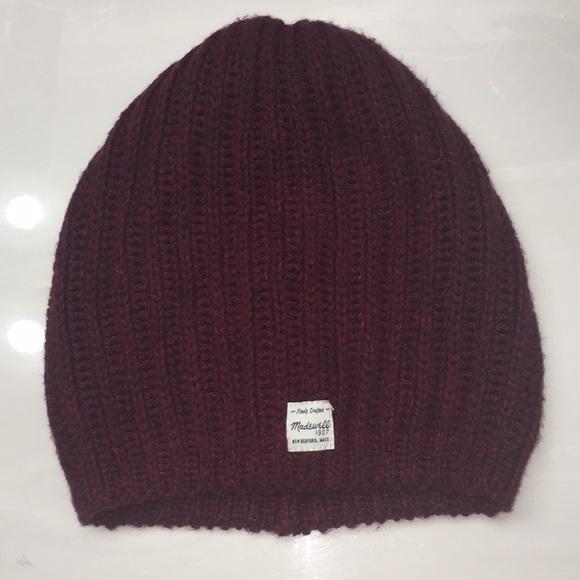 Madewell Accessories - Madewell Maroon Knit Beanie 402657bd4612